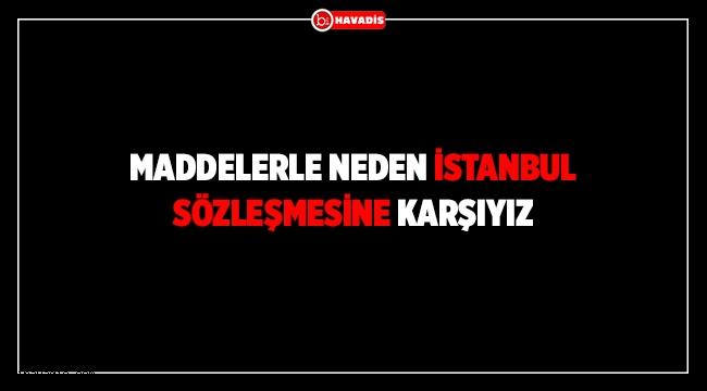 Maddelerle Neden İstanbul Sözleşmesine Karşıyız