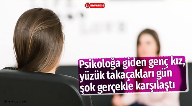 Psikologa giden genç kız