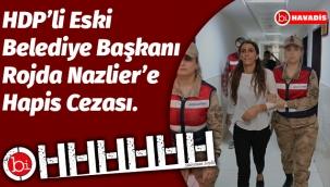HDP'li Eski Belediye Başkanı Rojda Nazlier'e Hapis Cezası.