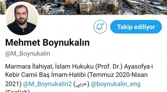 Mehmet Boynukalin Hocaya Twitter'dan Büyük Şok