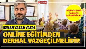Uzaktan Online Eğitim Derhal Bitirilmeli