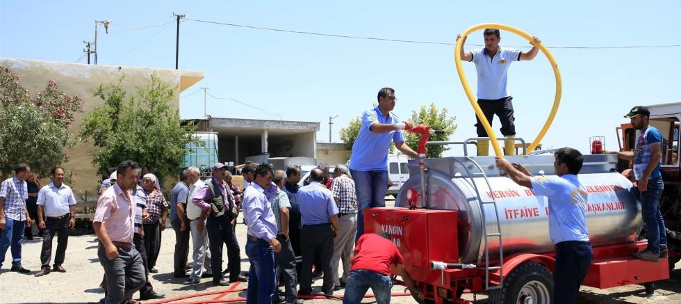 Mersin'de Gönüllü İtfaiyeciler Yetiştirilecek