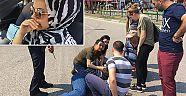 Bursa'da bayan sürücünün gözyaşları