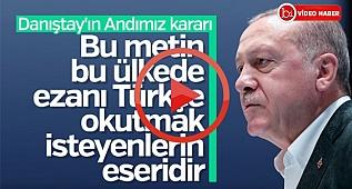 Başkan Erdoğan: Andımız konusunda kararlılığımız arttı