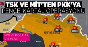 TÜRK SAVAŞ UÇAKLARI, KUZEY IRAK'TA PKK'YI VURDU - Pençe-Kartal Operasyonu